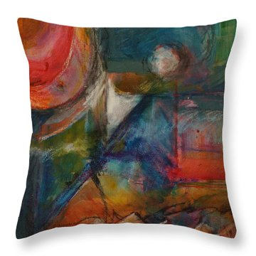 Throw Pillow featuring the painting Breakfast by Jillian Goldberg