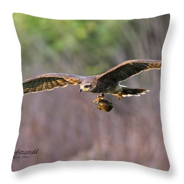 Breakfast On The Fly Throw Pillow