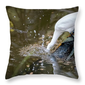 Breakfast Plunge Throw Pillow