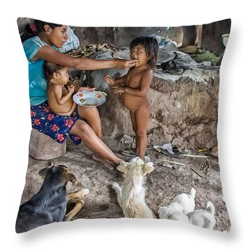 Throw Pillow featuring the photograph Breakfast by Tina Manley