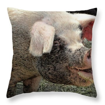 Breakfast With A Smile Throw Pillow by Gordon Dean II