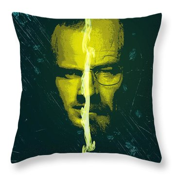 Breaking Bad Poster Heisenberg Print Walter White And Jesse Pinkman Portrait Wall Decor Throw Pillow