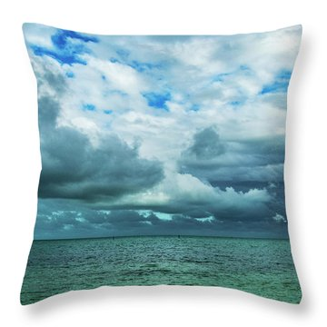 Throw Pillow featuring the photograph Breaking Clouds In Key West, Florida by Bob Slitzan