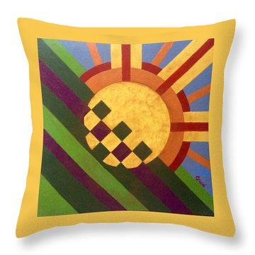 Cbs Sunday Morning Breaking Day Throw Pillow