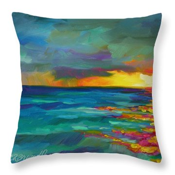 Throw Pillow featuring the painting Breaking Light by Chris Brandley