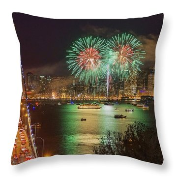Breaking Rules On New Year's Eve Throw Pillow