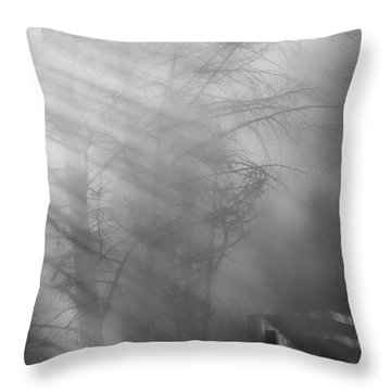 Throw Pillow featuring the photograph Breaking Through by Tom Vaughan