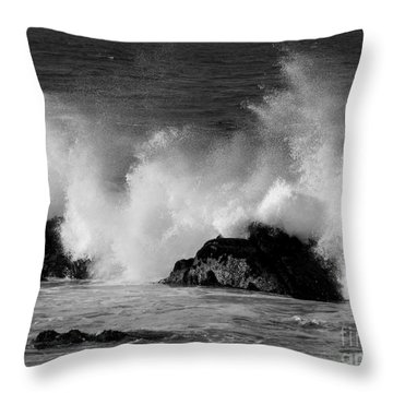 Breaking Wave At Pacific Grove Throw Pillow
