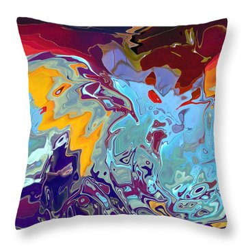 Breaking Waves Throw Pillow by Alika Kumar