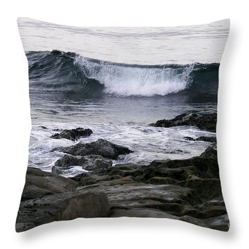 Throw Pillow featuring the photograph Breaking Waves by Carol  Bradley