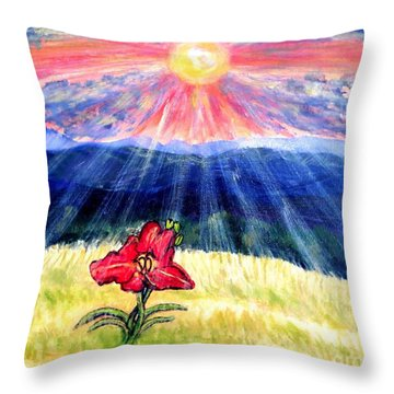 Breakthrough Of Hope Throw Pillow