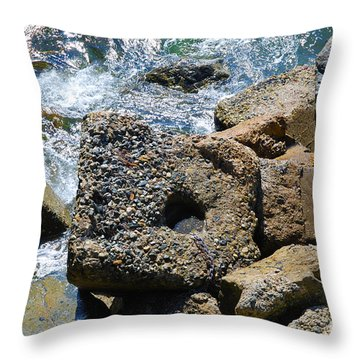 Breakwall Throw Pillow