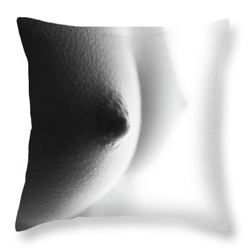 Breasts In Black And White Throw Pillow