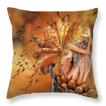Breath Of Autumn Throw Pillow