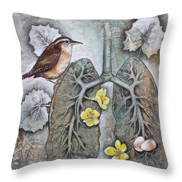 Breath Of Life Throw Pillow by Sheri Howe