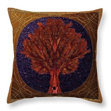 Throw Pillow featuring the digital art Breath Spirit Life by Iowan Stone-Flowers