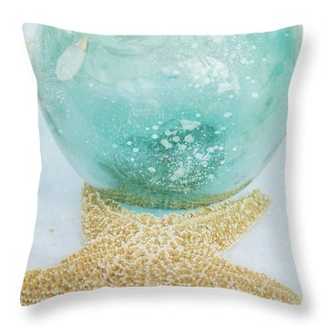 Breathe  . . .   Like Water Throw Pillow by Sharon Mau