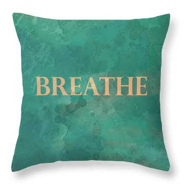 Throw Pillow featuring the digital art Breathe by Ann Powell
