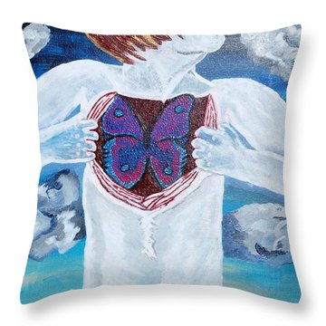 Throw Pillow featuring the painting Breathe Deep by Lisa Brandel