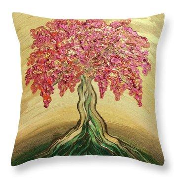 Breathe Golden Peace Throw Pillow
