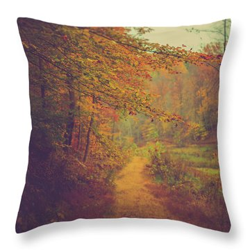 Throw Pillow featuring the photograph Breathe In Autumn by Shane Holsclaw
