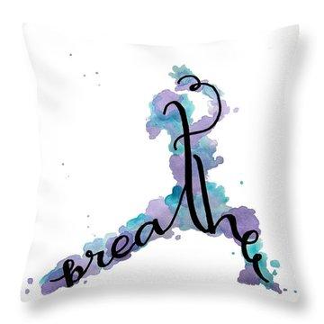 Breathe Yoga Art Throw Pillow