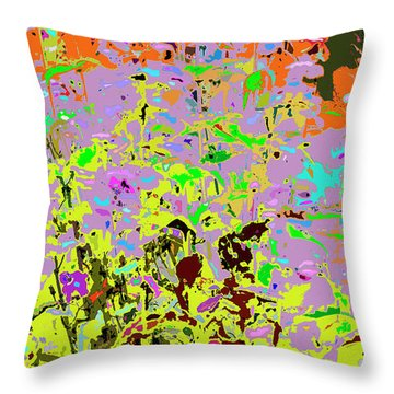 Breathing Color Throw Pillow
