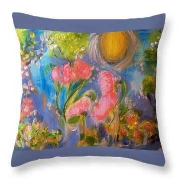 Breathing In The Sunlight Throw Pillow