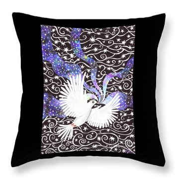 Breathing Life Into Darkness Throw Pillow
