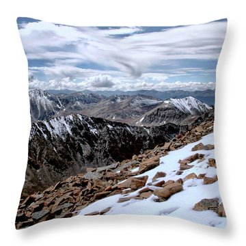 Throw Pillow featuring the photograph Breathing More Than Just A Little by Jim Hill