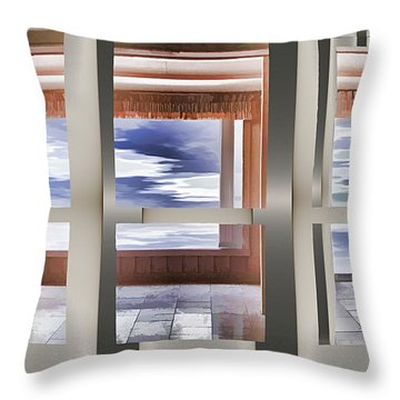 Breathing Space - Silver, Optimized For Metallic Paper Throw Pillow