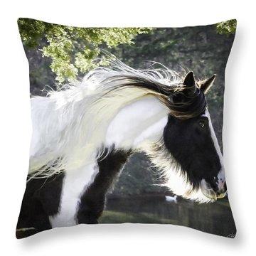 Breathtaking Girl Throw Pillow