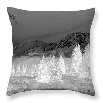 Breathtaking In Black And White Throw Pillow by Joyce Dickens