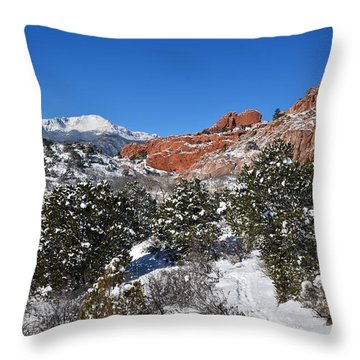 Breathtaking View Throw Pillow by Diane Alexander