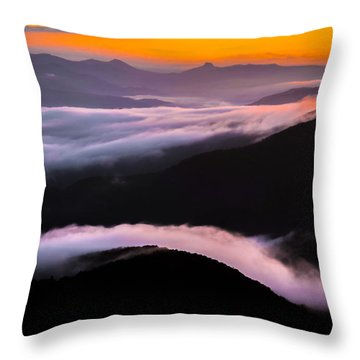 Breatthtaking Blue Ridge Sunrise Throw Pillow