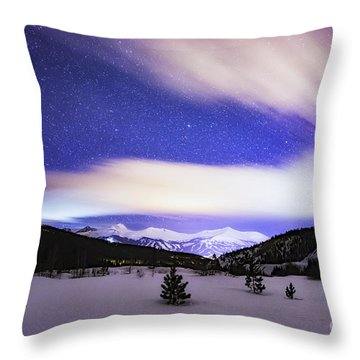 Throw Pillow featuring the photograph Breckenridge Blues  by Bitter Buffalo Photography