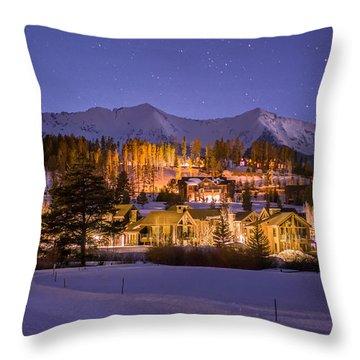 Breckenridge Nordic Night  Throw Pillow by Michael J Bauer