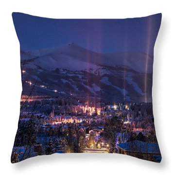 Breckenridge Phenomenon Throw Pillow