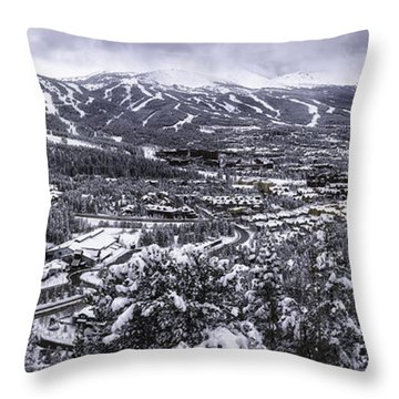Throw Pillow featuring the photograph Breckenridge Ski Area by Bitter Buffalo Photography