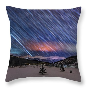 Throw Pillow featuring the photograph Breckenridge Trails  by Bitter Buffalo Photography