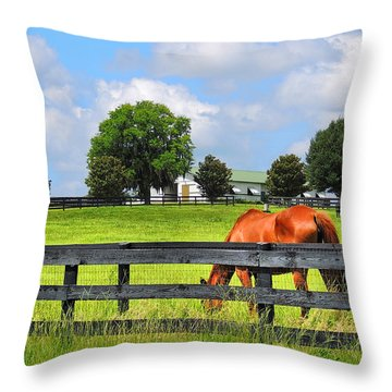 Breeding Beauties Throw Pillow