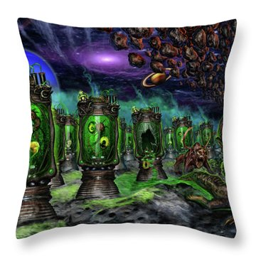 Breeding On Other Lands Throw Pillow by Tony Koehl