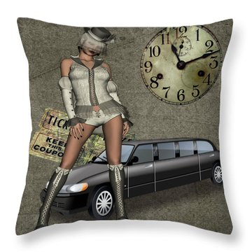 Throw Pillow featuring the digital art Breena by Digital Art Cafe