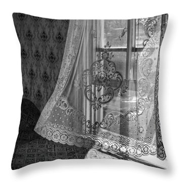 Breeze - Black And White Throw Pillow by Nikolyn McDonald