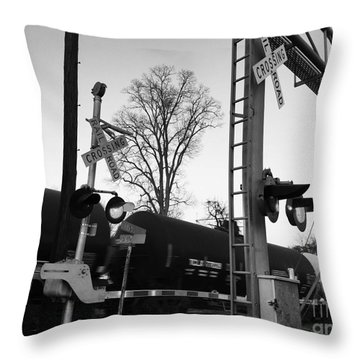 Breeze Black And White Throw Pillow