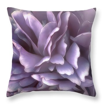 Throw Pillow featuring the photograph Breeze In Cool Lilac by Darlene Kwiatkowski