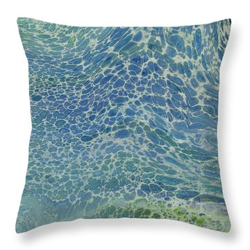 Breeze On Ocean Waves Throw Pillow