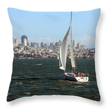 Breezing Up In The Bay Throw Pillow