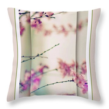 Throw Pillow featuring the photograph Breezy Blossom Panel by Jessica Jenney