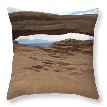 Throw Pillow featuring the digital art Breezy Bridge by Gary Baird